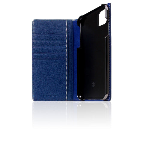 D8 Full Grain Leather Case for iPhone 11 Pro Max Navy Blue
