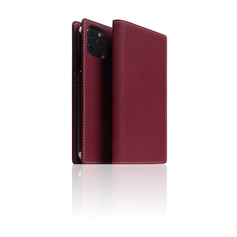D8 Full Grain Leather Case for iPhone 11 Pro Burgundy Rose