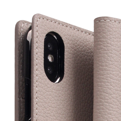 D8 Full Grain Leather Case for iPhone X / XS Light Cream