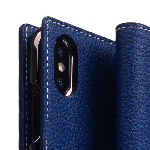 D8 Full Grain Leather Case for iPhone X / XS Navy Blue