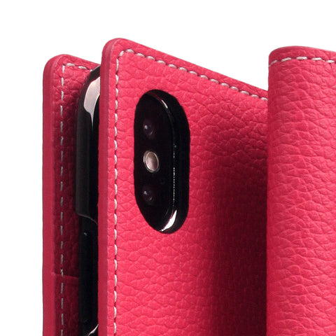 D8 Full Grain Leather Case for iPhone X / XS Pink Rose