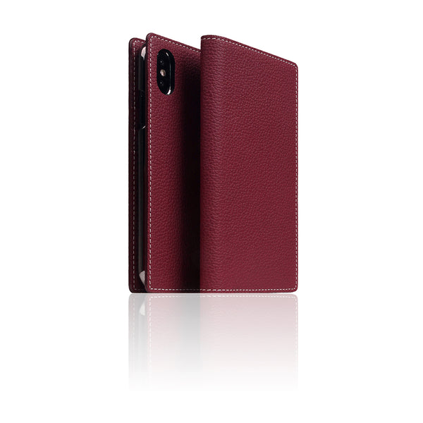 D8 Full Grain Leather Case for iPhone X / XS Burgundy Rose