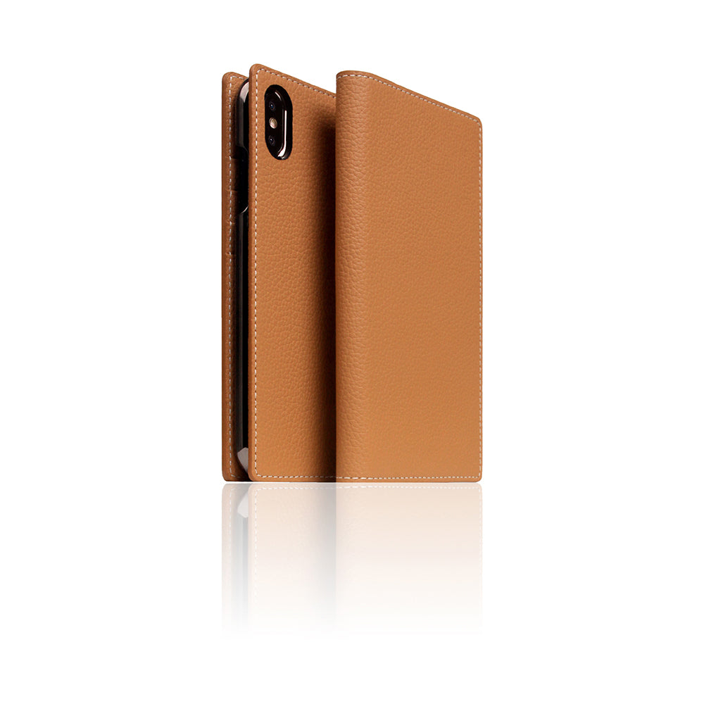 D8 Full Grain Leather Case for iPhone X / XS Caramel Cream