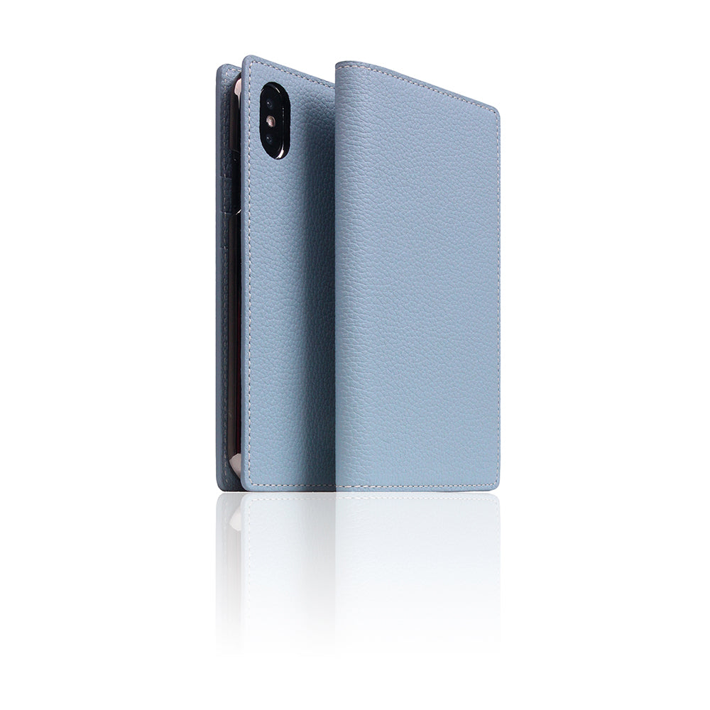 D8 Full Grain Leather Case for iPhone X / XS Powder Blue