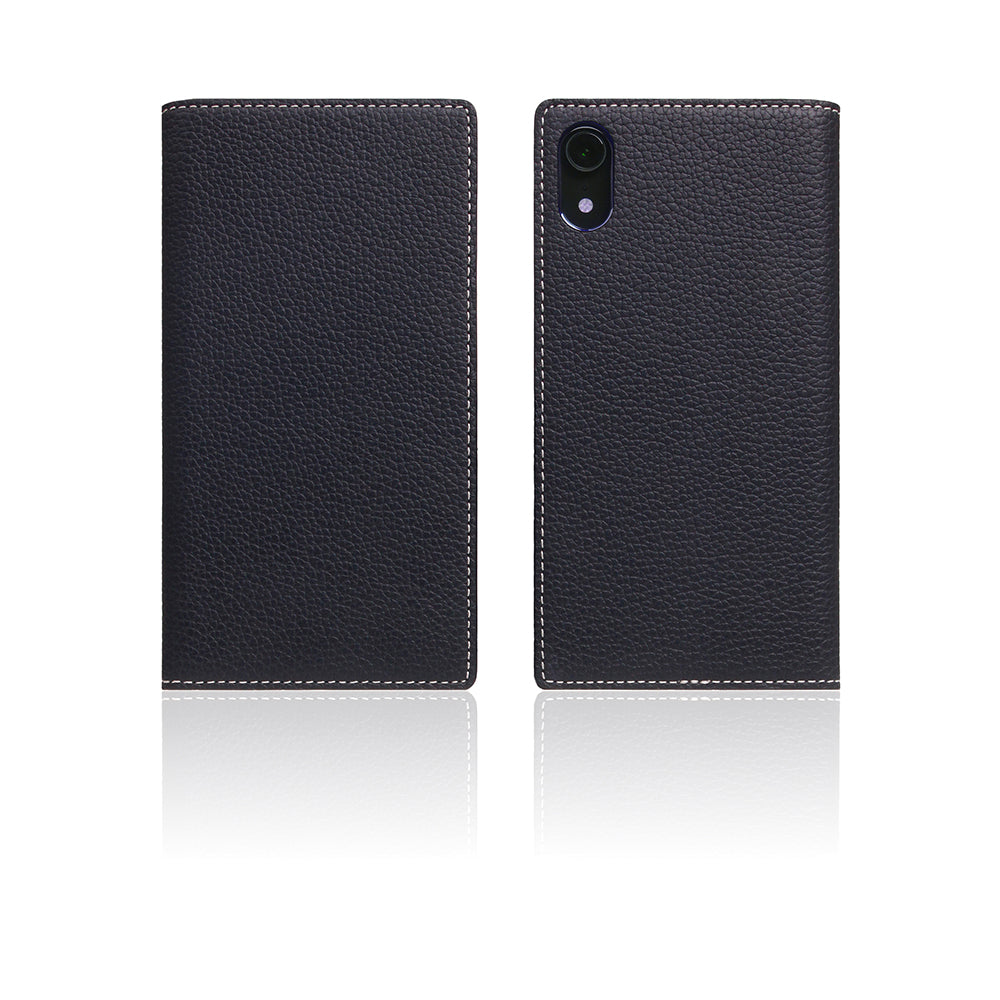 D8 Full Grain Leather Case for iPhone XR Black Blue
