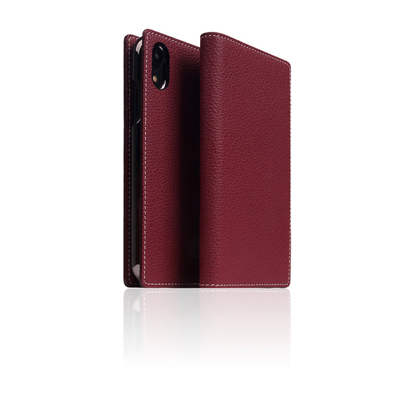 D8 Full Grain Leather Case for iPhone XR Burgundy Rose
