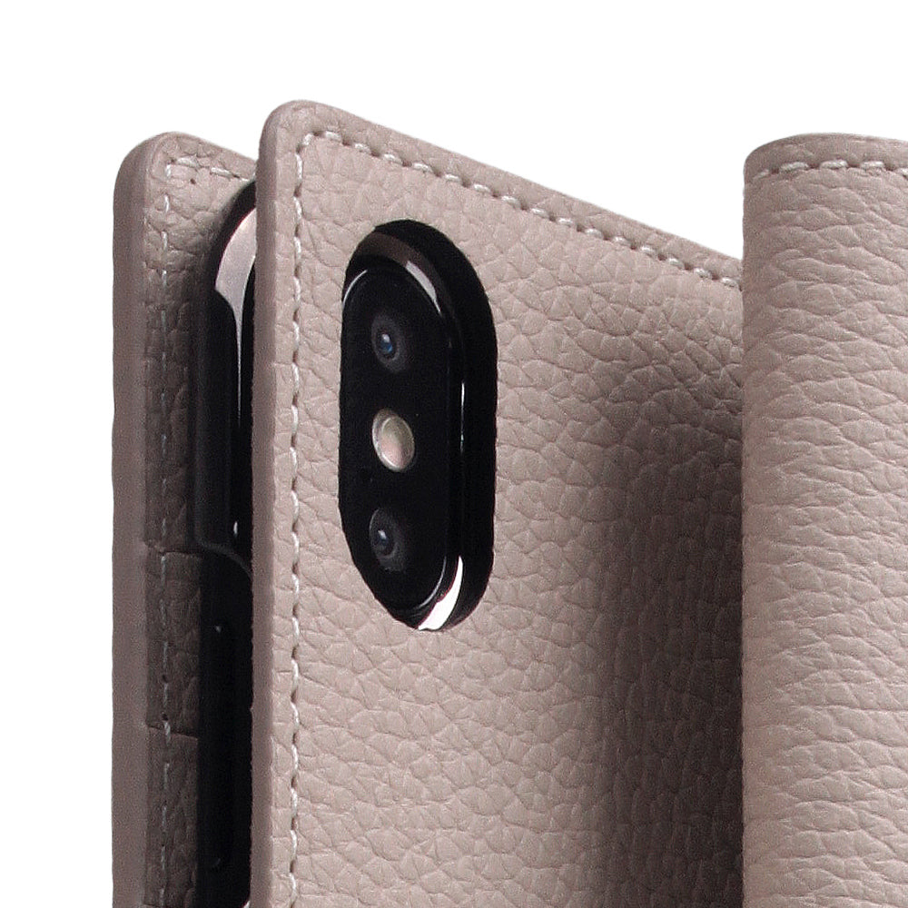 D8 Full Grain Leather Case for iPhone Xs Max Light Cream