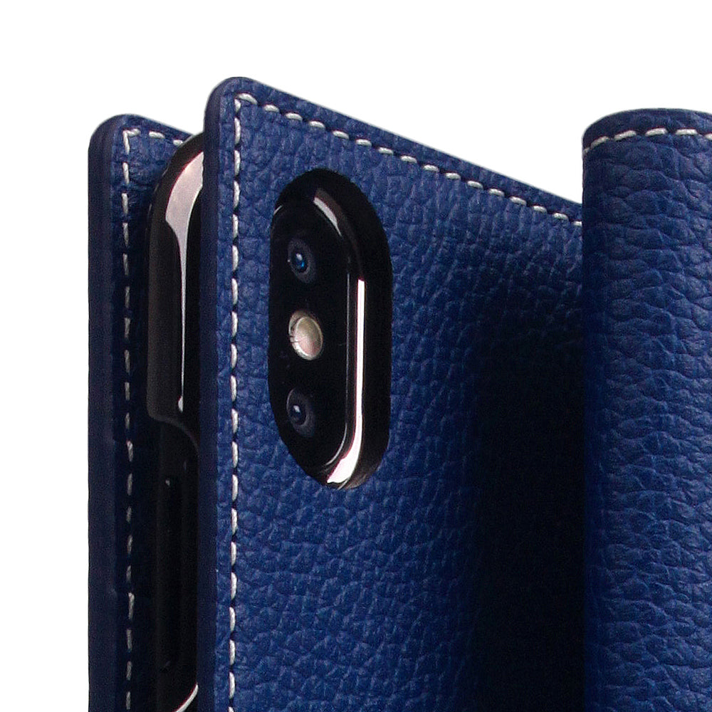 D8 Full Grain Leather Case for iPhone Xs Max Navy Blue
