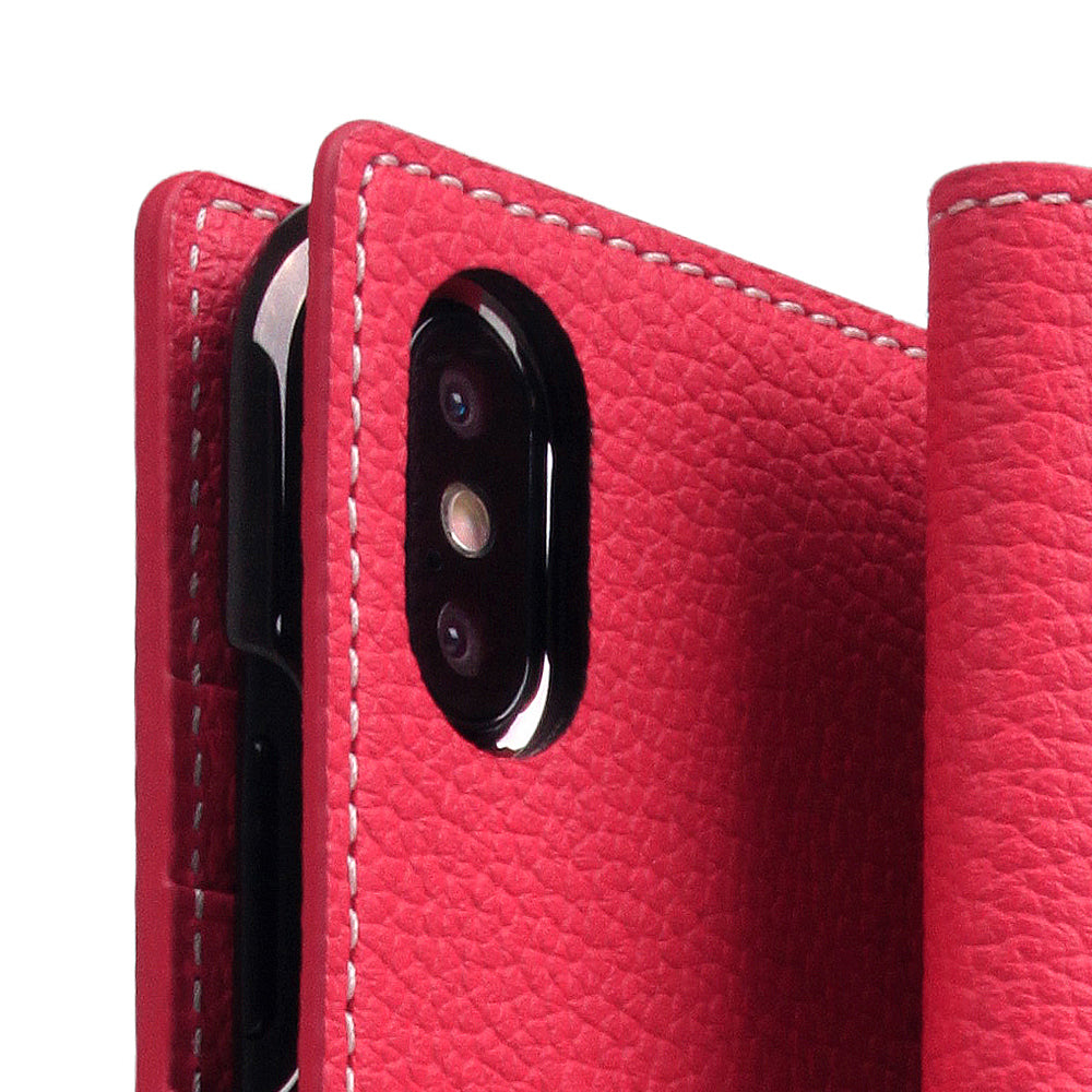 D8 Full Grain Leather Case for iPhone Xs Max Pink Rose