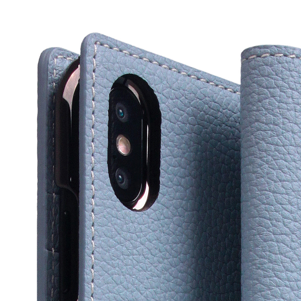 D8 Full Grain Leather Case for iPhone Xs Max Powder Blue