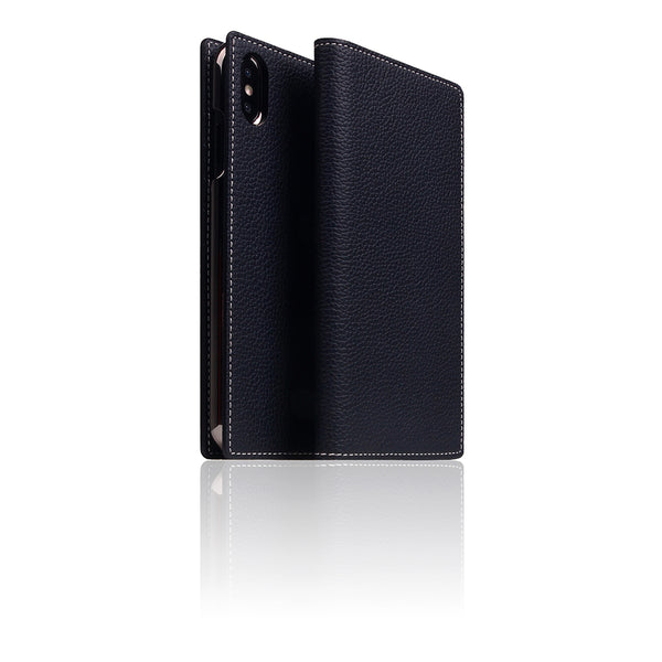 D8 Full Grain Leather Case for iPhone Xs Max Black Blue