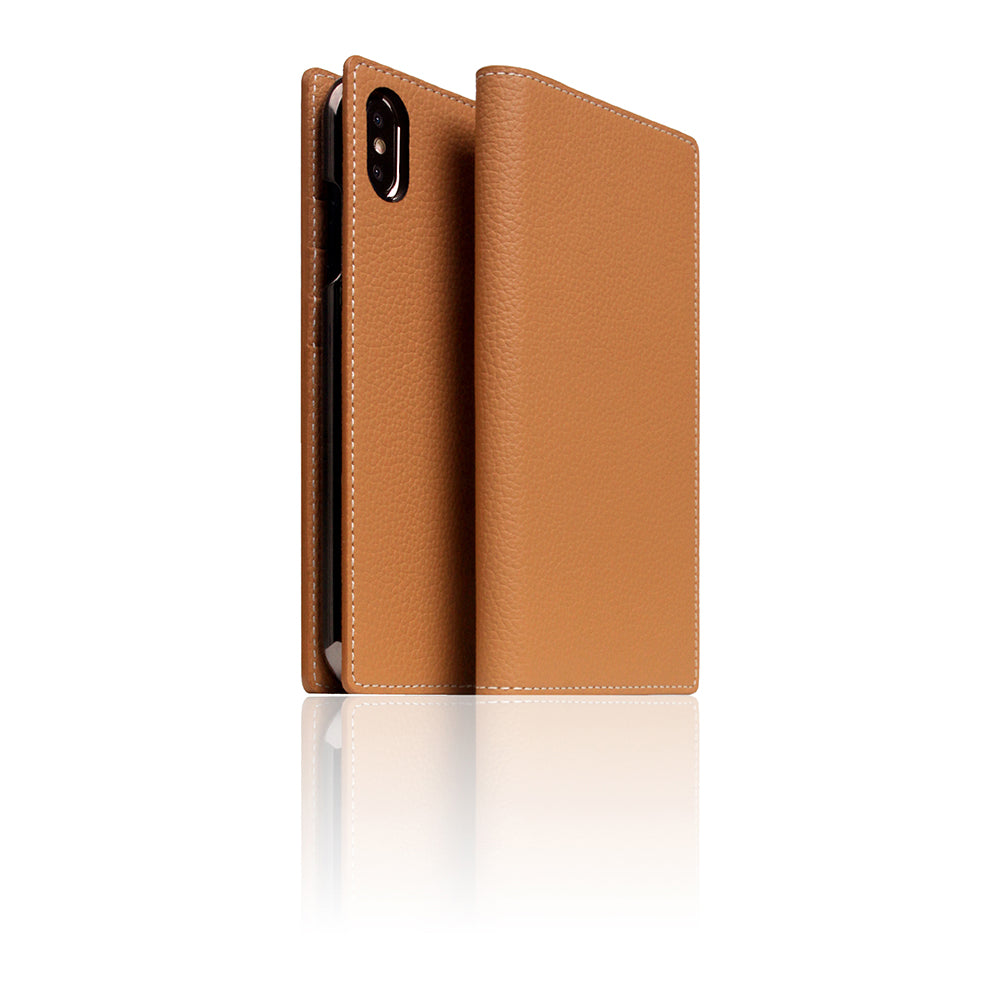 D8 Full Grain Leather Case for iPhone Xs Max Caramel Cream