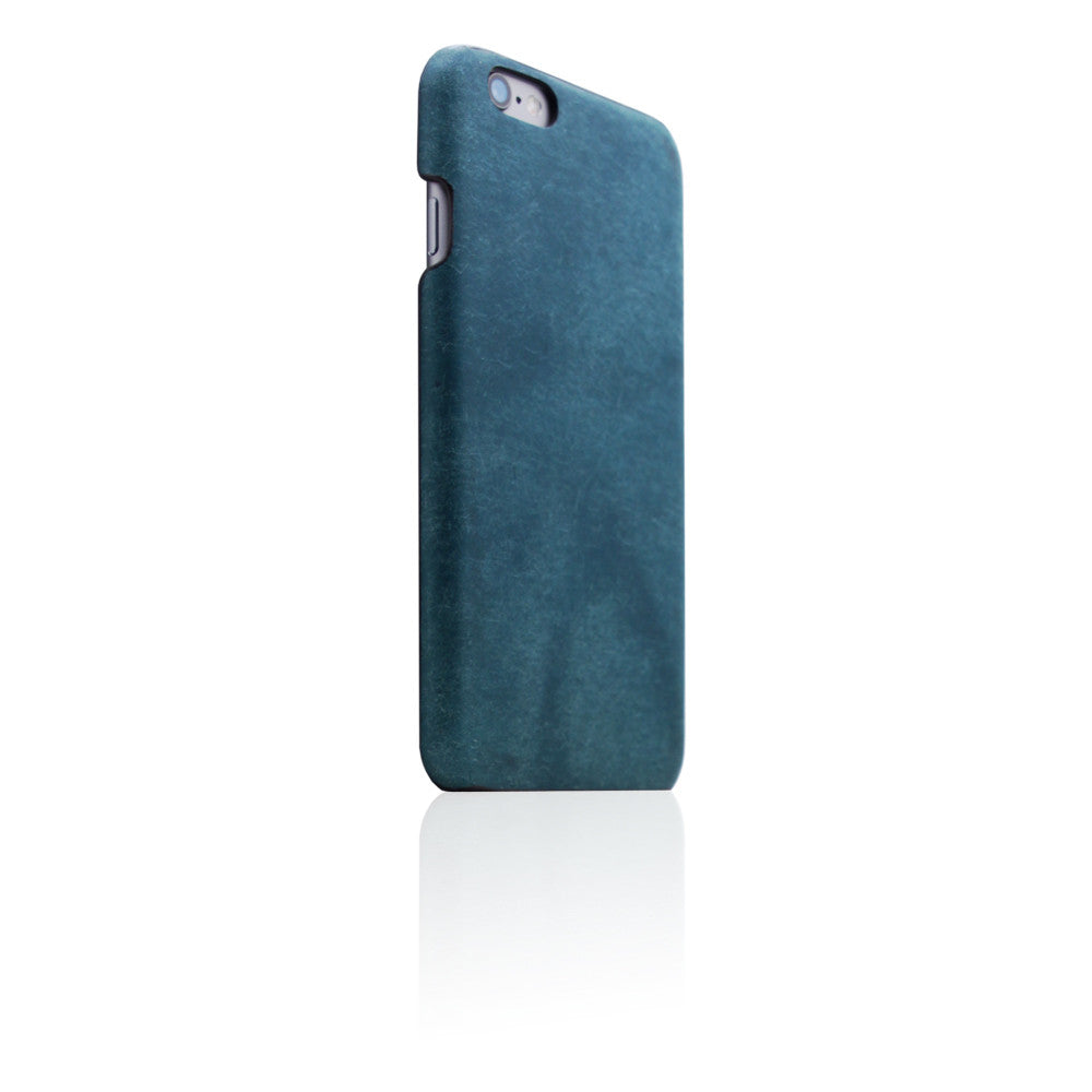 D8 Italian Pueblo Leather Back Case for iPhone 6/6s Plus Blue