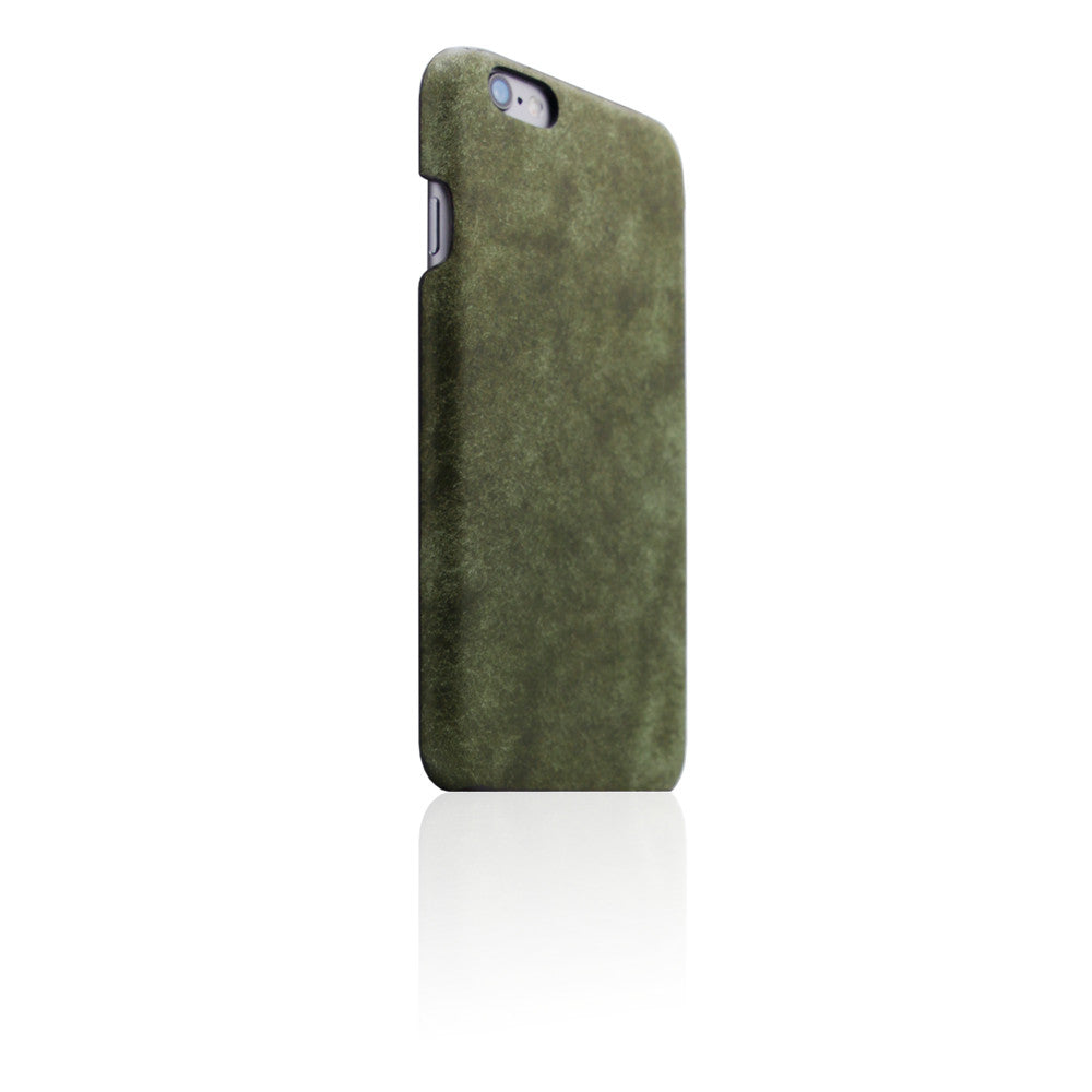 D8 Italian Pueblo Leather Back Case for iPhone 6/6s Plus Olive