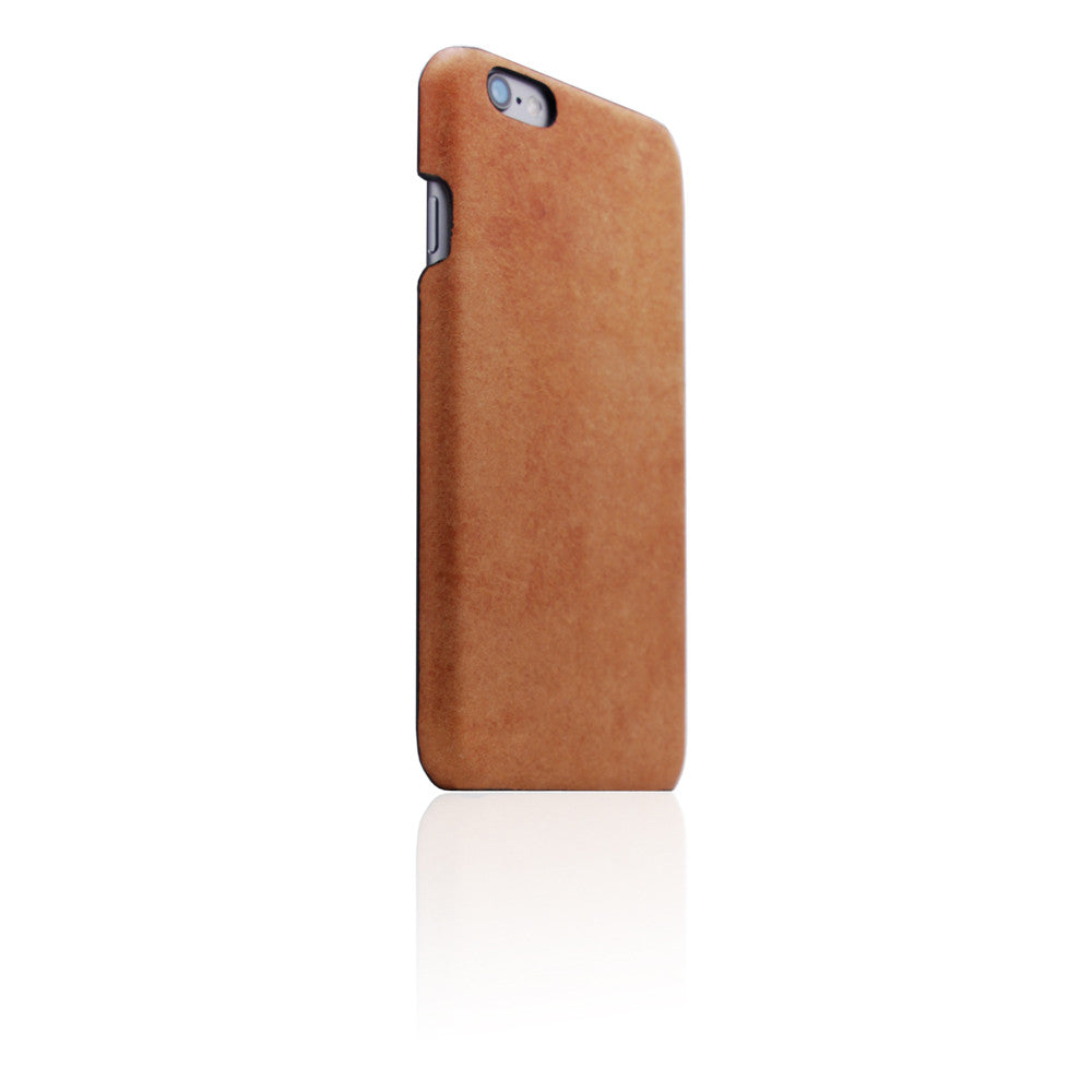 D8 Italian Pueblo Leather Back Case for iPhone 6/6s Plus Tan
