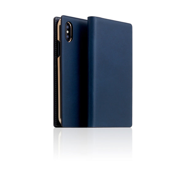 D7 Italian Buttero Leather Case for iPhone X Blue