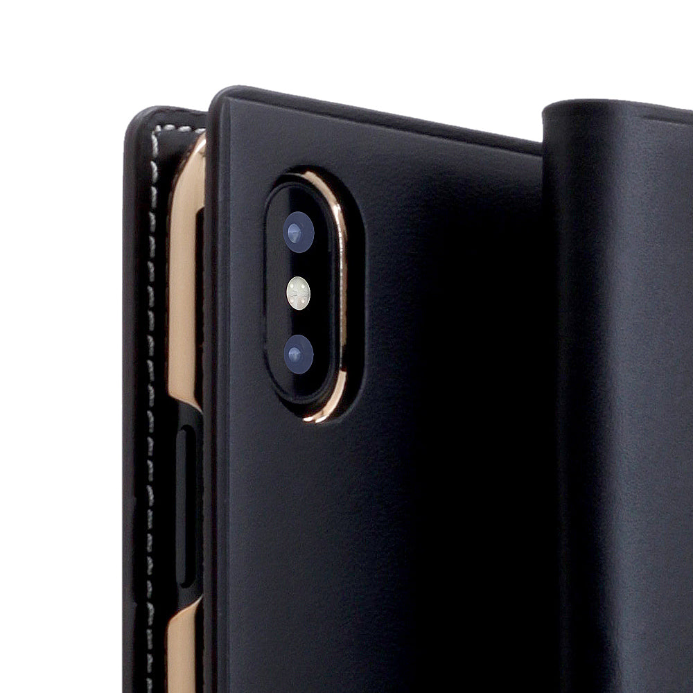 D7 Italian Buttero Leather Case for iPhone X / XS Black
