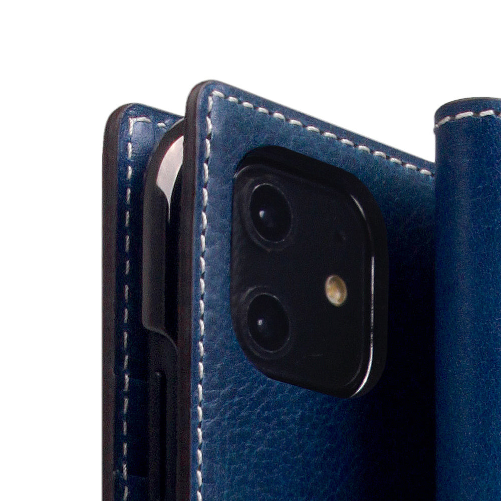 D+ Italian Temponata Leather Case for iPhone 11 Blue Tan