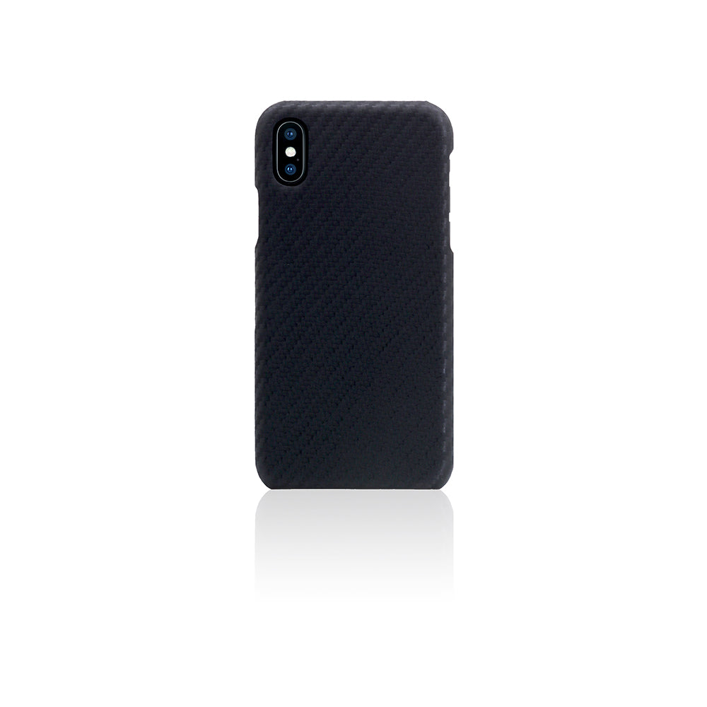 D+ Italian Carbon Leather Back Case for iPhone X / XS Black