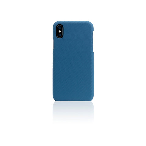 D+ Italian Carbon Leather Back Case for iPhone X Blue