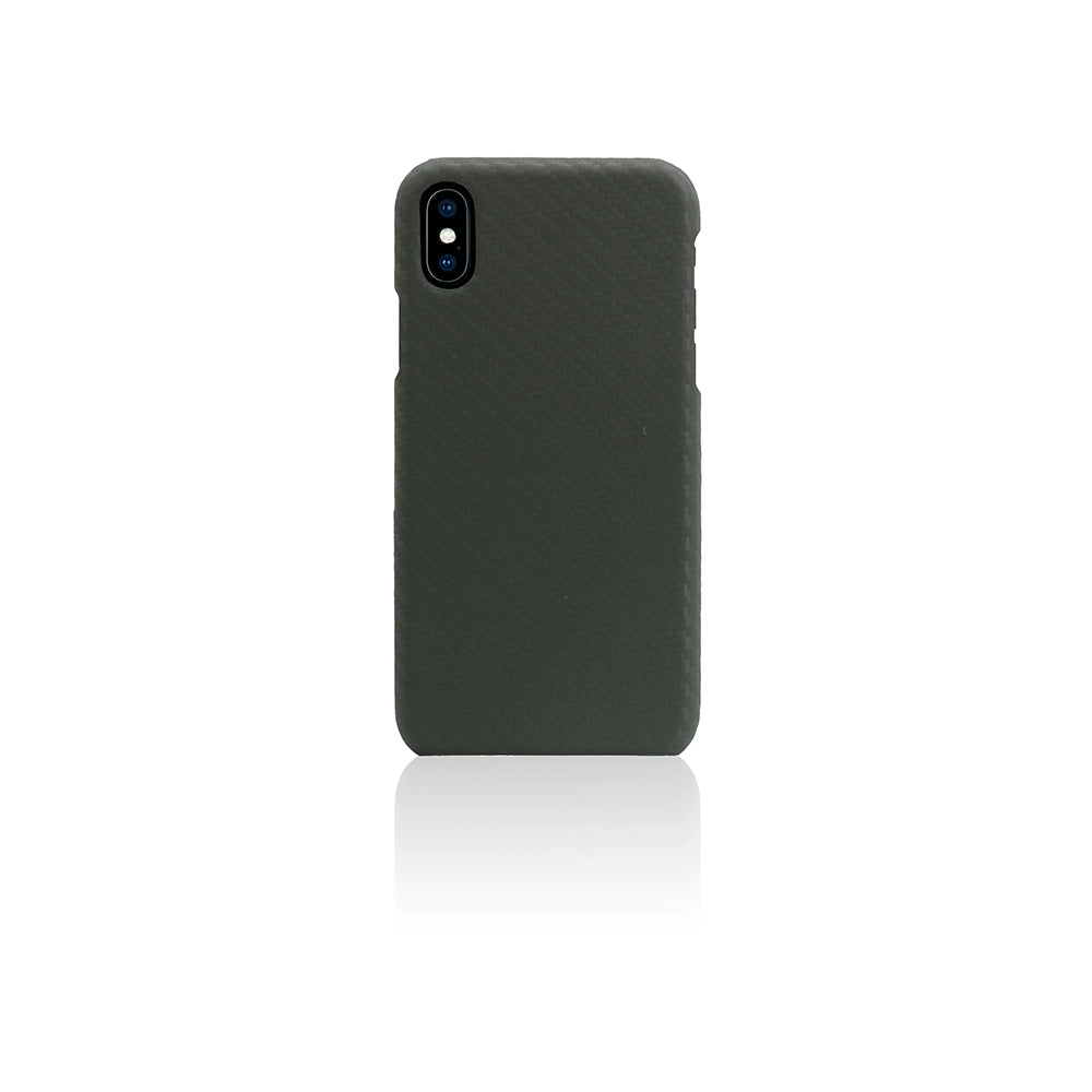 D+ Italian Carbon Leather Back Case for iPhone X / XS Khaki