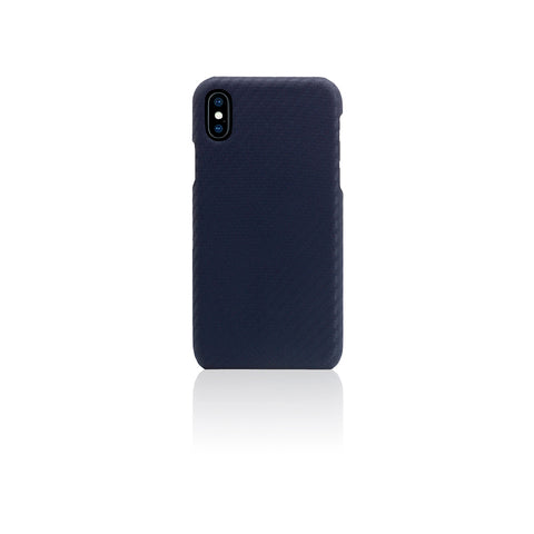 D+ Italian Carbon Leather Back Case for iPhone X Navy