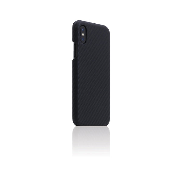 D+ Italian Carbon Leather Back Case for iPhone X Black