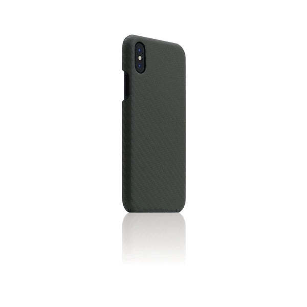 D+ Italian Carbon Leather Back Case for iPhone X Khaki