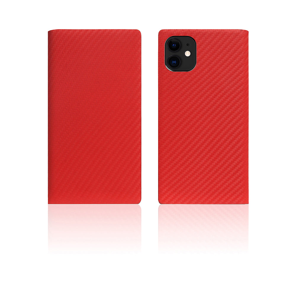 D+ Italian Carbon Leather Case for iPhone 11 Red