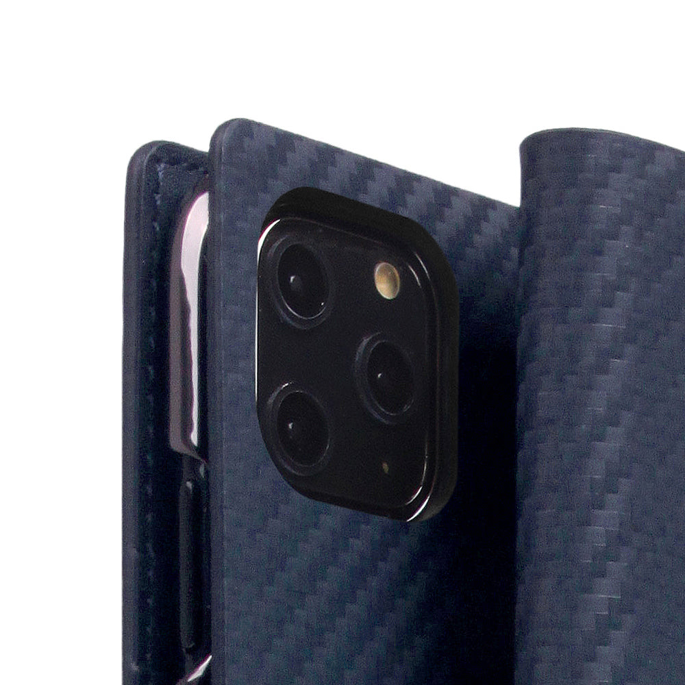 D+ Italian Carbon Leather Case for iPhone 11 Pro Navy