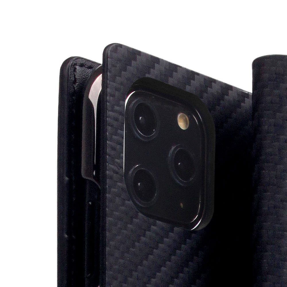 D+ Italian Carbon Leather Case for iPhone 11 Pro Max Black