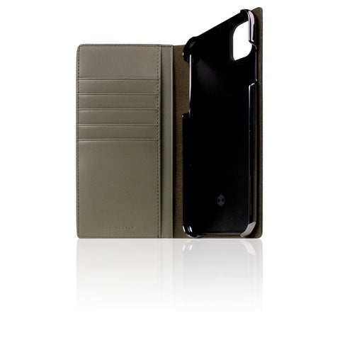D+ Italian Carbon Leather Case for iPhone 11 Pro Max Khaki