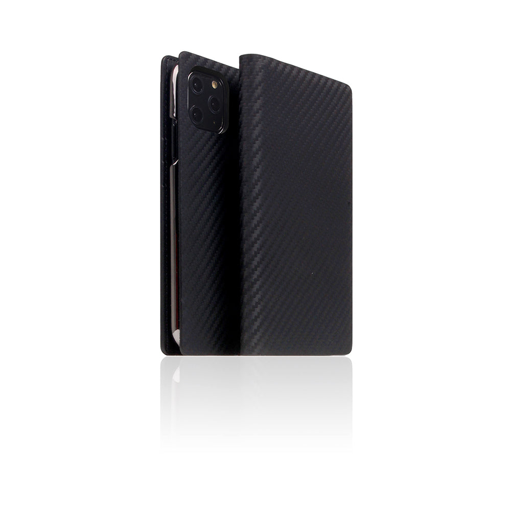 D+ Italian Carbon Leather Case for iPhone 11 Pro Black