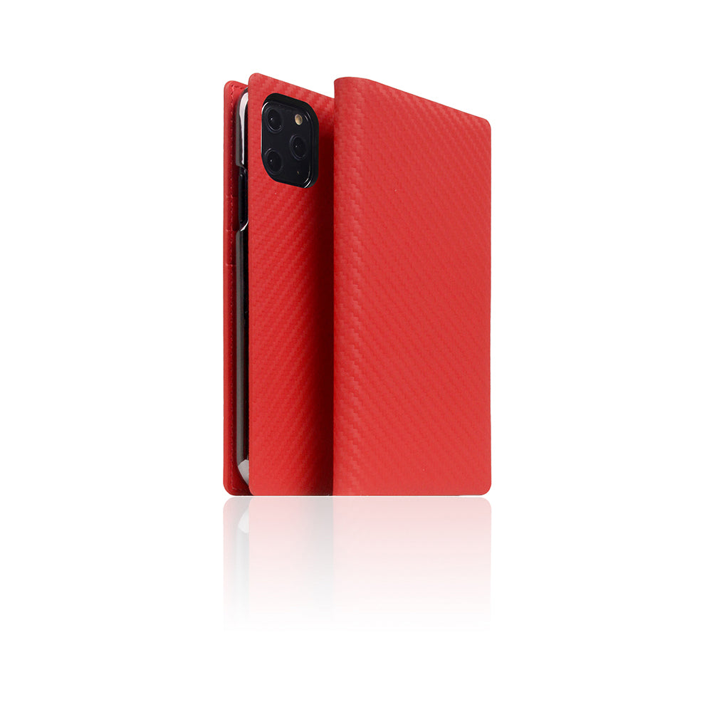 D+ Italian Carbon Leather Case for iPhone 11 Pro Red
