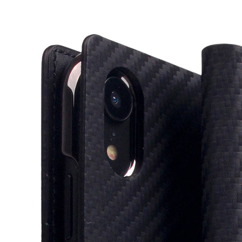 D+ Italian Carbon Leather Case for iPhone XR Black