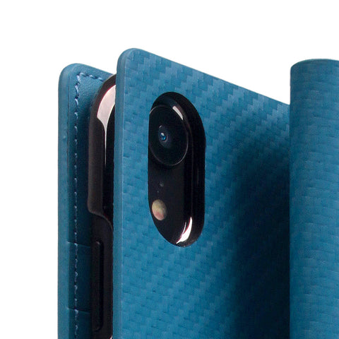 D+ Italian Carbon Leather Case for iPhone XR Blue