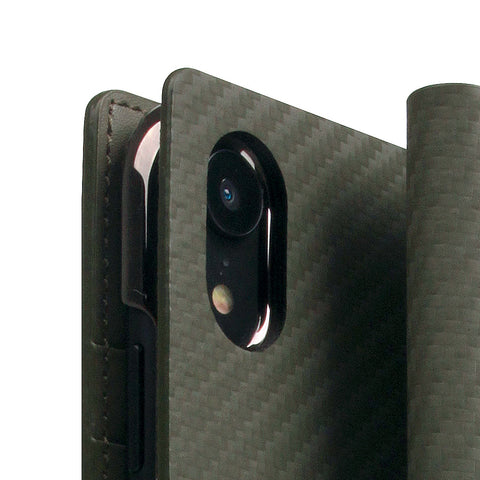 D+ Italian Carbon Leather Case for iPhone XR Khaki