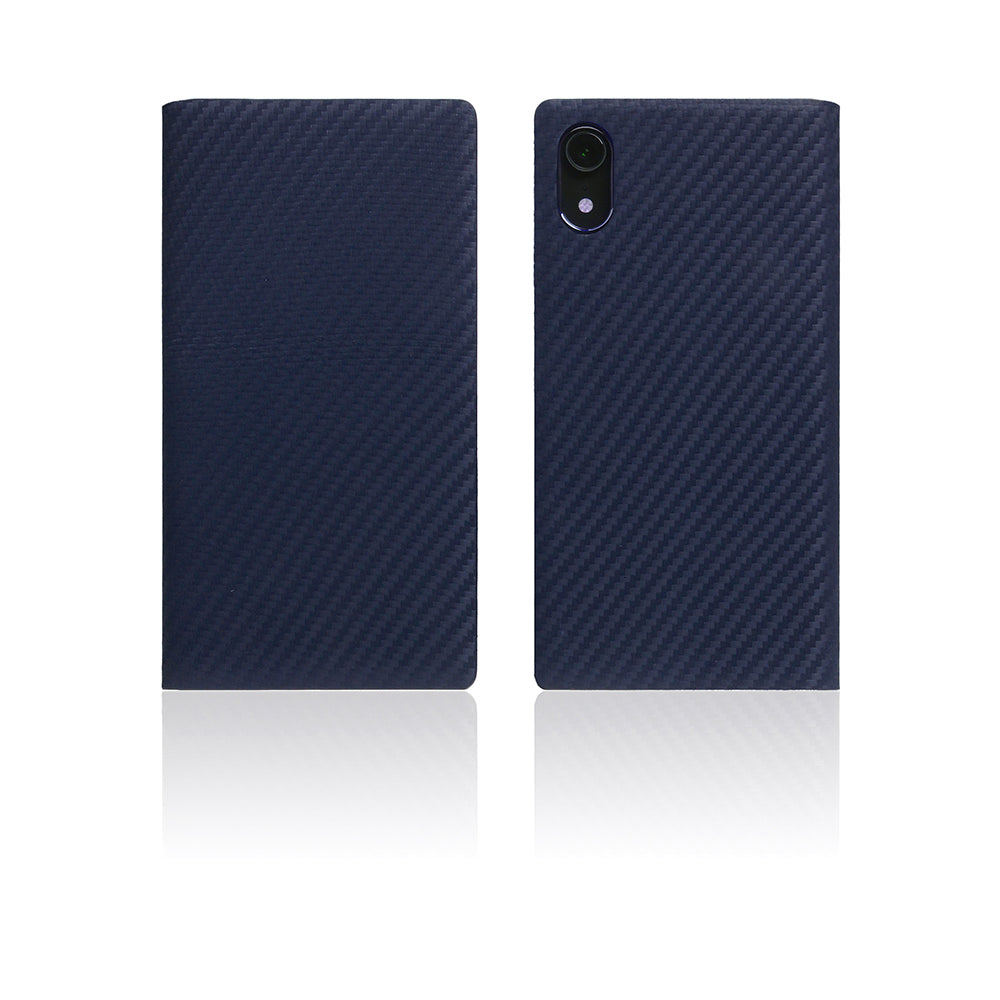 D+ Italian Carbon Leather Case for iPhone XR Navy
