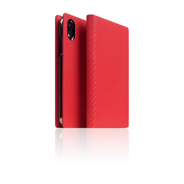 D+ Italian Carbon Leather Case for iPhone XR Red