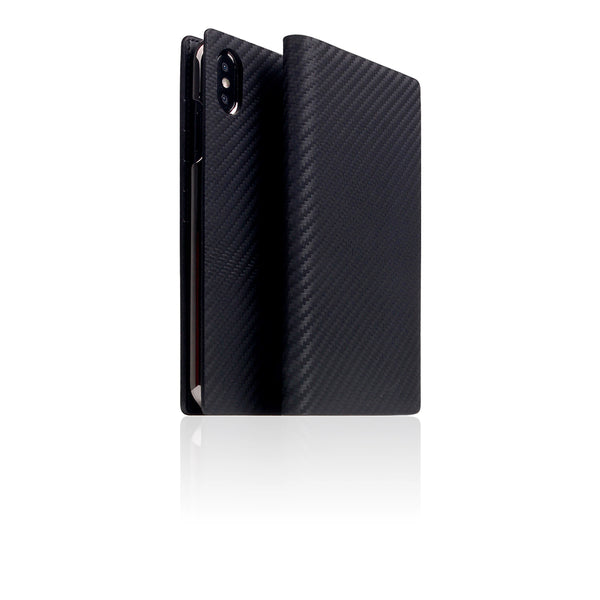 D+ Italian Carbon Leather Case for iPhone Xs Max Black