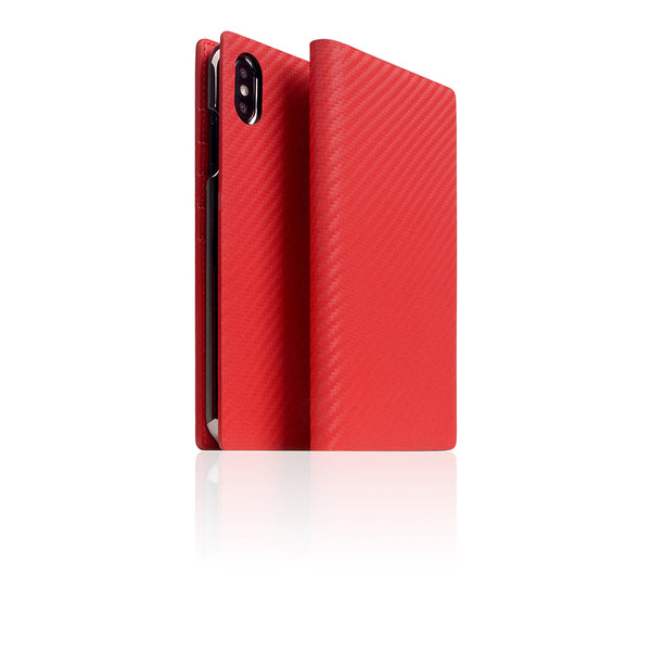 D+ Italian Carbon Leather Case for iPhone Xs Max Red