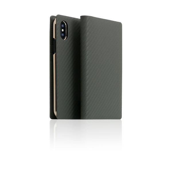 D+ Italian Carbon Leather Case for iPhone X Khaki