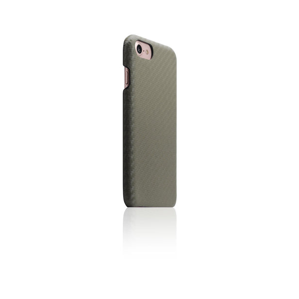 D+ Italian Carbon Leather Back Case for iPhone 8 / 7 Khaki