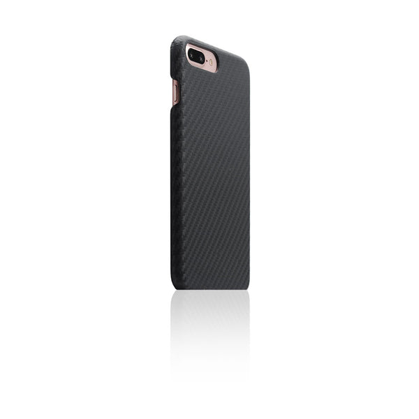 D+ Italian Carbon Leather Back Case for iPhone 8 Plus / 7 Plus (Black)