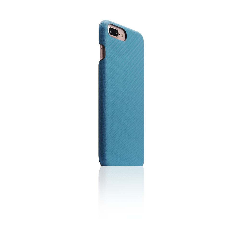 D+ Italian Carbon Leather Back Case for iPhone 8 Plus / 7 Plus (Blue)