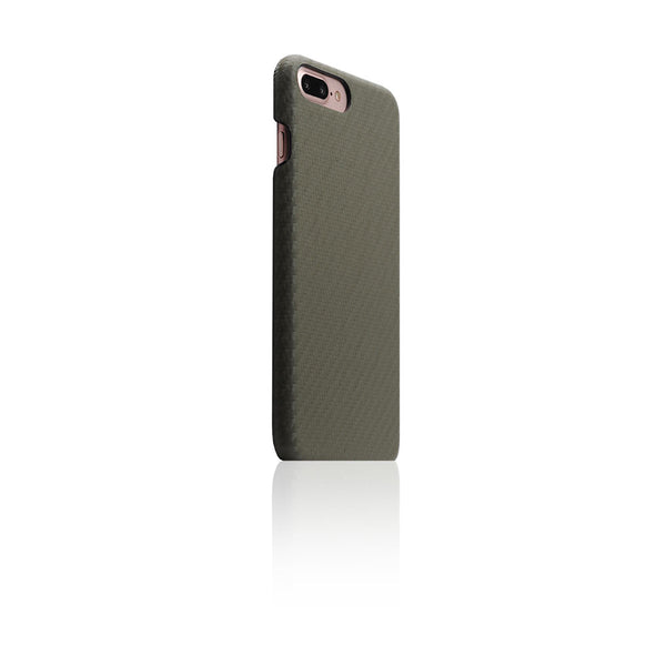 D+ Italian Carbon Leather Back Case for iPhone 8 Plus / 7 Plus Khaki
