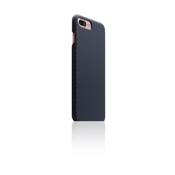 D+ Italian Carbon Leather Back Case for iPhone 8 / 7 Plus Navy