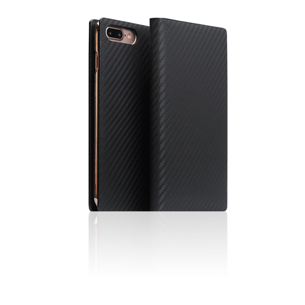 D+ Italian Carbon Leather Case for iPhone 8 / 7 Plus Black