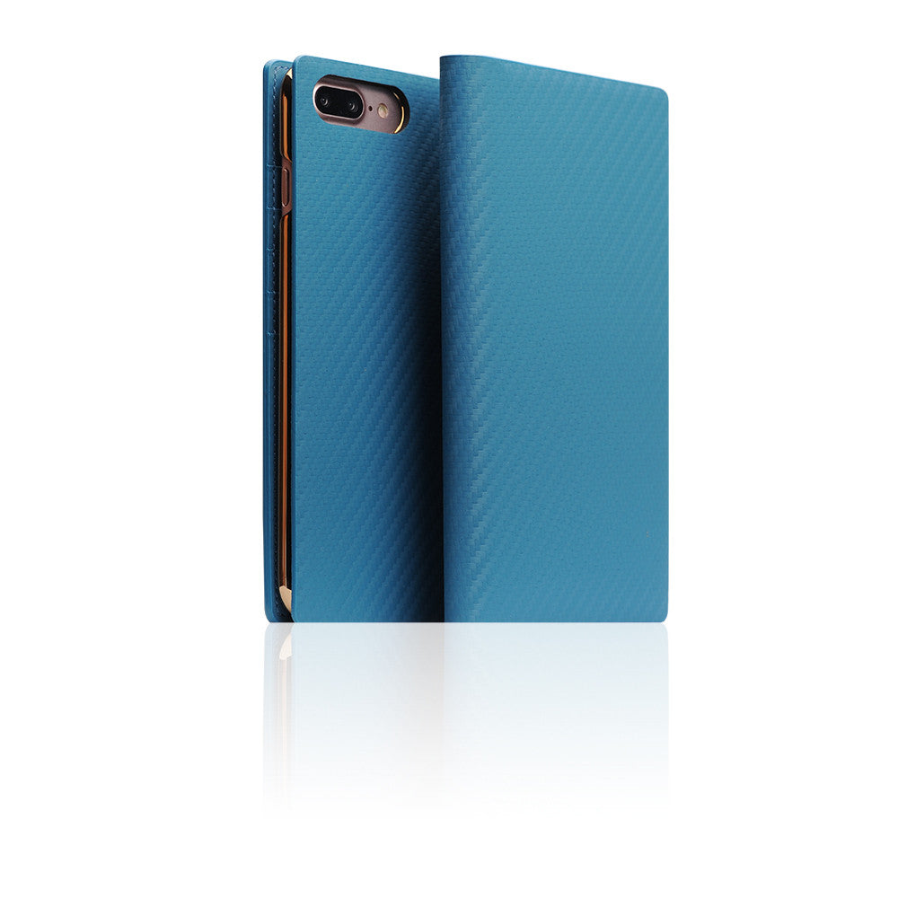 D+ Italian Carbon Leather Case for iPhone 8 / 7 Plus Blue
