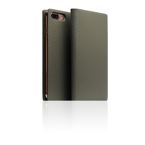 D+ Italian Carbon Leather Case for iPhone 8 Plus / 7 Plus Khaki